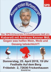 "Kabarett ""Kenner trinken Württemberger"" mit Andreas Kenner"